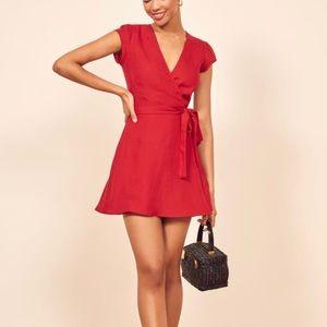BNWT Reformation Red Rodin Dress Size XS